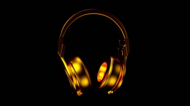 headphones music note 4k loop alpha - digital enhancement stock videos & royalty-free footage