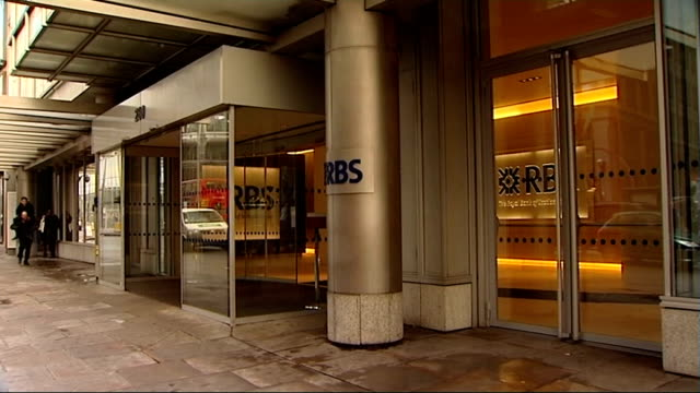 rbs headquarters building and sign - banking sign stock videos & royalty-free footage