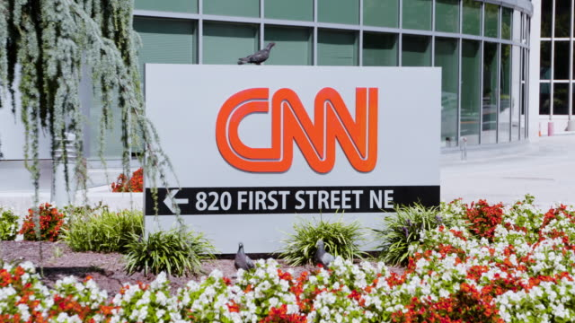 cnn headquarters building and signage - cnn stock videos & royalty-free footage