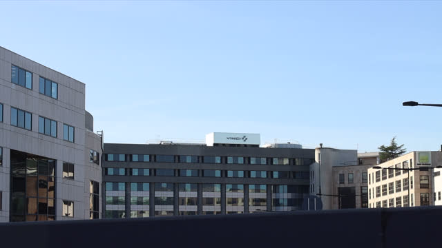 vinci headquarters building in france - office block exterior stock videos & royalty-free footage