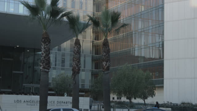 lapd headquarters exterior - police station stock videos & royalty-free footage
