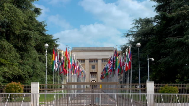un headquarters - geneva, switzerland - united nations building stock videos and b-roll footage