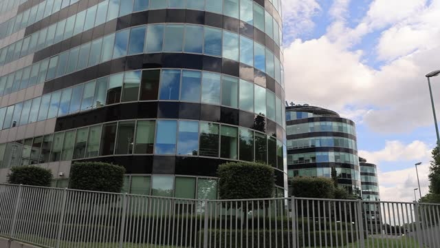 headquarters of french technology giant atos during atos technology days 2021 on july 2 in bezons, france. at its annual atos technology days event,... - big data stock videos & royalty-free footage