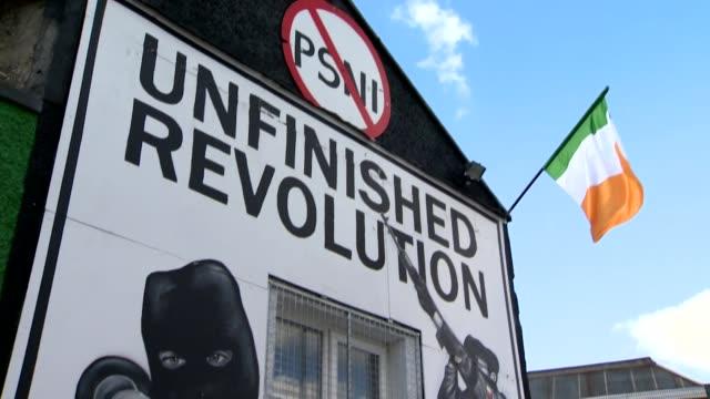headquarters of saoradh in derry, northern ireland, dissident irish republicans - northern ireland stock videos & royalty-free footage