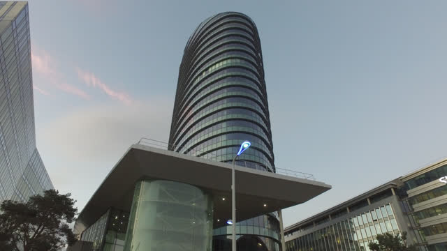 headquarters of the company accor - office block exterior stock videos & royalty-free footage