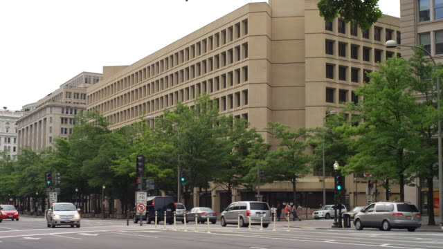 fbi headquarters, washington dc. shot in 2012. - fbi stock videos & royalty-free footage
