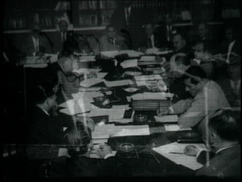 heads of state attend first interparliamentary american conference, sit around conference table interparliamentary american conference on may 22,... - 1959 bildbanksvideor och videomaterial från bakom kulisserna