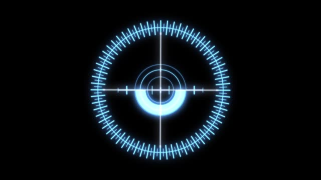 heads up display element of a holographic radial crosshair. - armi video stock e b–roll