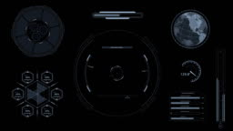 HUD Heads Up Display Scanner high tech target digital alpha channel