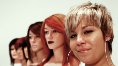 heads - female likeness stock videos & royalty-free footage