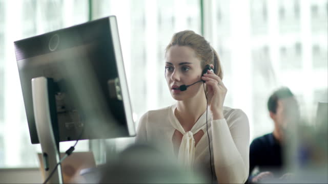 headset office - call center stock videos & royalty-free footage