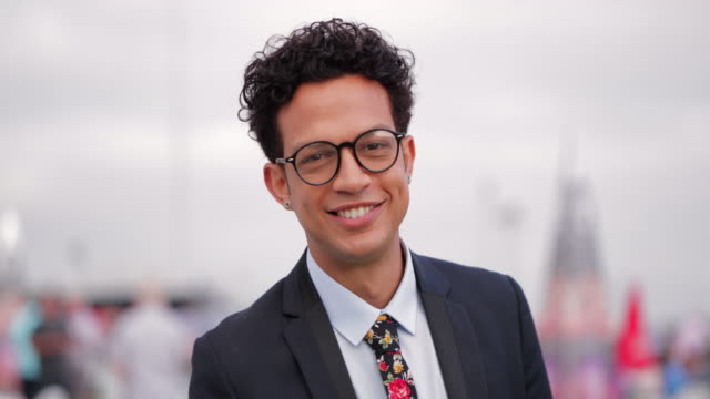 headshot of mixed race man - stereotypically upper class stock videos & royalty-free footage