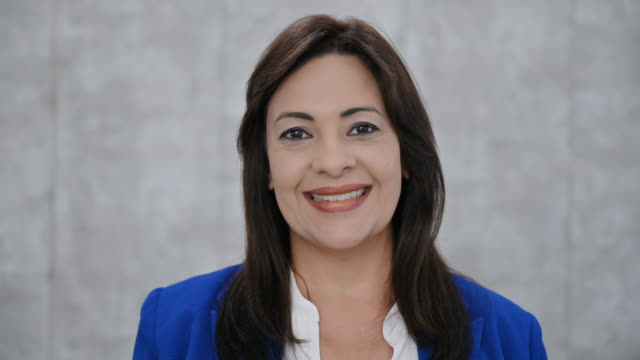 headshot portrait of hispanic businesswoman in late 40s - 40 49 years stock videos & royalty-free footage