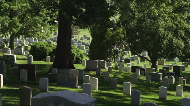 Headstones in Arlington National Cemetery. Shot in May 2012.