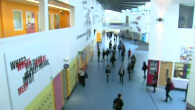 Headteachers vote for possible strike action over academies in England LIB SEQUENCE pupils along inside school