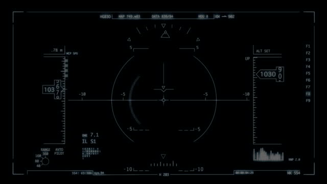 vídeos y material grabado en eventos de stock de (head-up display - avión militar