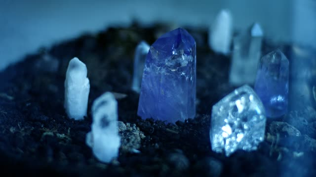 healing crystal amethyst. - spirituality stock videos & royalty-free footage