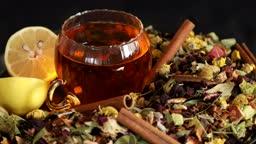 Healing herbs and healthy tea rotating 2
