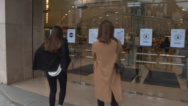 health precautions are high on the agenda as stores reopen in france after eight weeks of lockdown - rennes france stock videos & royalty-free footage