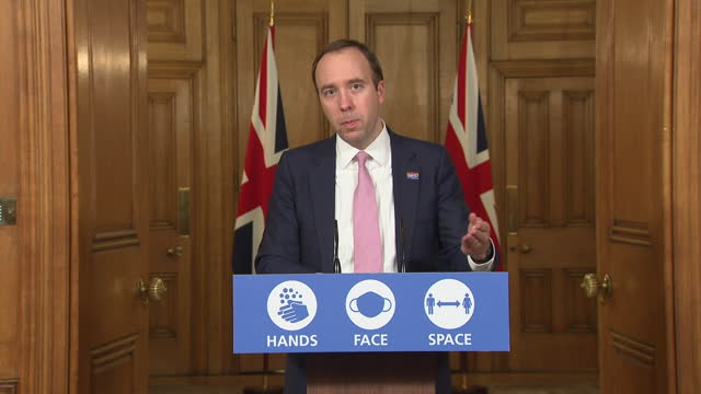 health secretary matt hancock saying he understands how important it is to keep people safe from coronavirus as well as seeing loved ones at christmas - social gathering stock videos & royalty-free footage