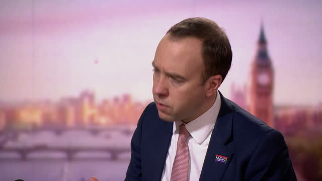 """health secretary matt hancock saying he understands the """"sense of loss"""" people have after the coronavirus christmas bubble was cancelled - loss stock videos & royalty-free footage"""