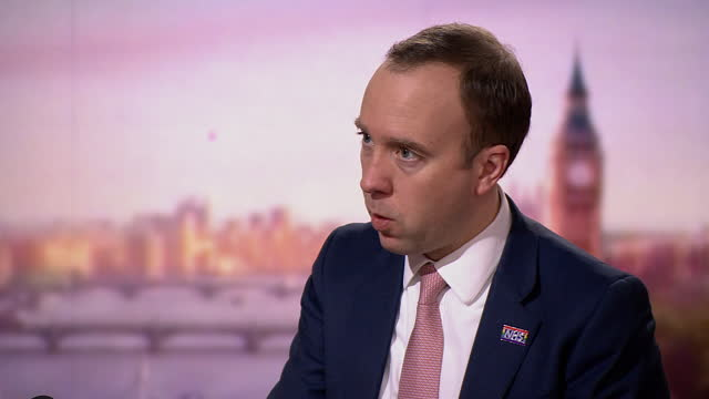 """health secretary matt hancock saying """"of course i'm worried"""" about the nhs being overwhelmed by coronavirus - worried stock videos & royalty-free footage"""
