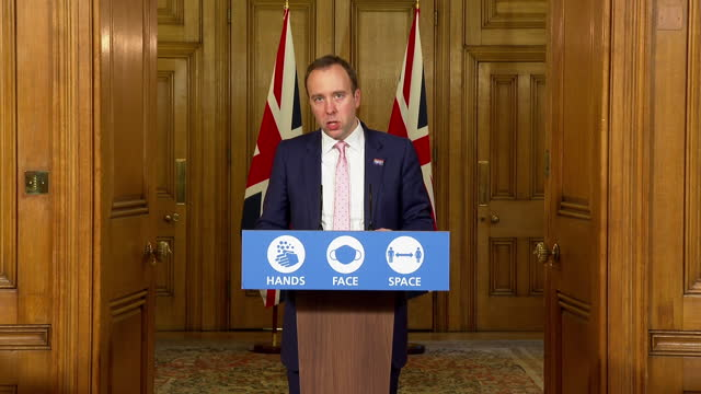 "health secretary matt hancock saying ""there are brighter skies ahead"" despite coronavirus christmas restrictions being put in place - bright stock videos & royalty-free footage"