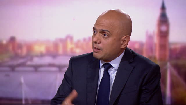"""health secretary sajid javid saying """"the nhs is under significant pressure"""" approaching winter - politics and government stock videos & royalty-free footage"""