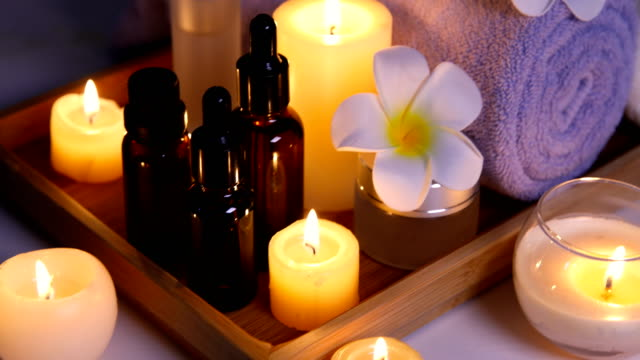 health spa - candle stock videos & royalty-free footage
