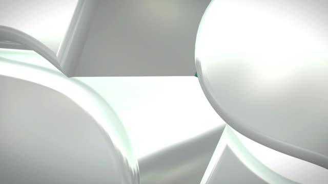 fitness-tunnel endlos wiederholbar - schönheitssalon stock-videos und b-roll-filmmaterial