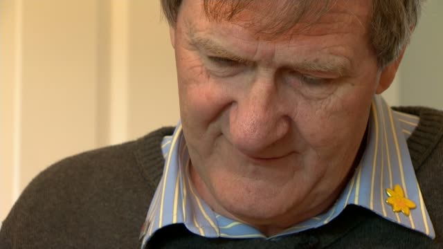 health watchdog says too many patients 'are dying without dignity' close shot peter buckle buckle and reporter - itvイブニングニュース点の映像素材/bロール