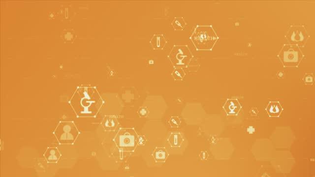 icona sanitaria modello medico concetto background video - simbolo video stock e b–roll