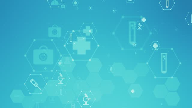healthcare icon pattern medical concept background stock video - computer icon stock videos & royalty-free footage