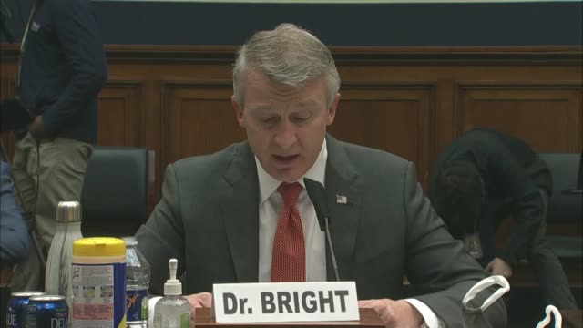 healthcare whistleblower and former biomedical advanced research and development authority director rick bright tells house energy and commerce... - whistleblower human role stock videos & royalty-free footage