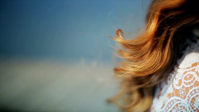 healthy and beautiful hair,close up - blonde hair stock videos & royalty-free footage