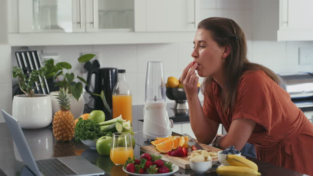 healthy and tasty from the very first bite - freshness stock videos & royalty-free footage