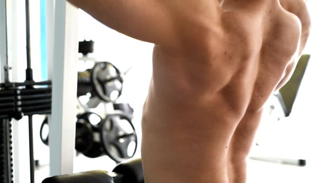 healthy athlete training with gym - torso stock videos & royalty-free footage