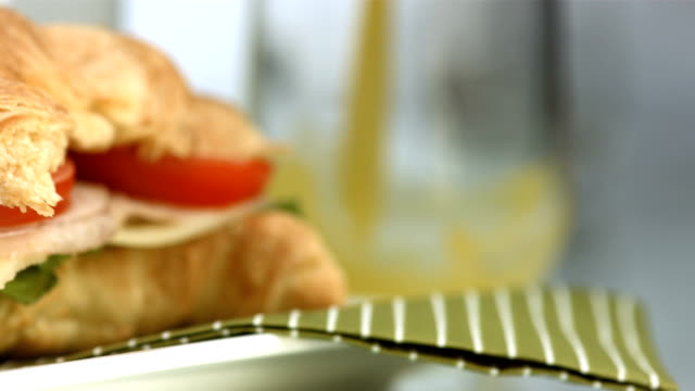 hd: healthy breakfast - tomato juice stock videos and b-roll footage