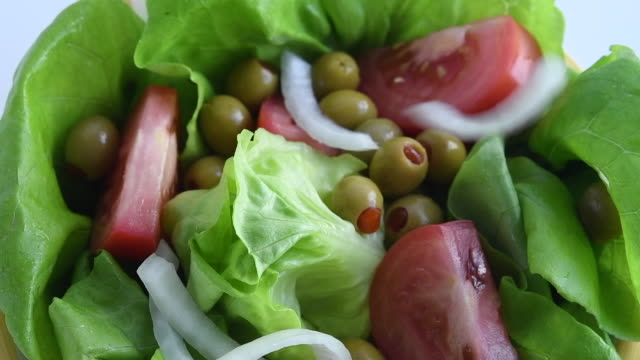 healthy eating: preparation of a boston lettuce based salad - green salad stock videos & royalty-free footage