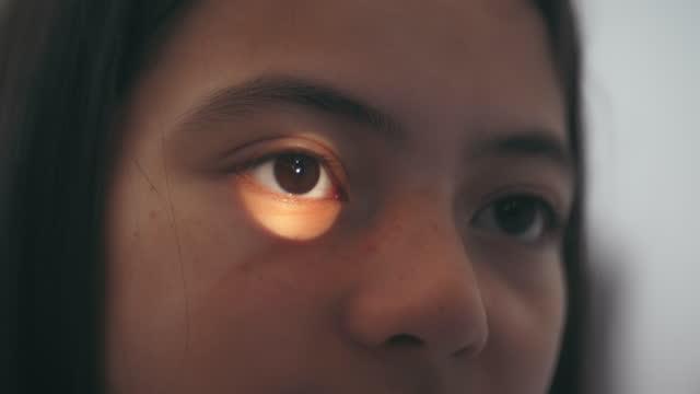 healthy eye technology , eyesight testing - lens eye stock videos & royalty-free footage