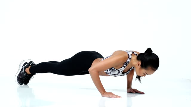 healthy firm body fitness girl warm up - spandex stock videos & royalty-free footage