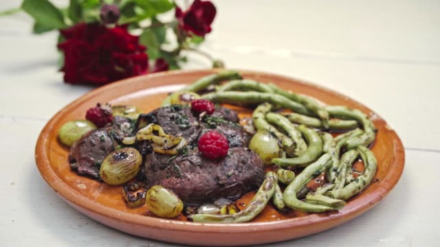 healthy food dish - food styling stock videos & royalty-free footage