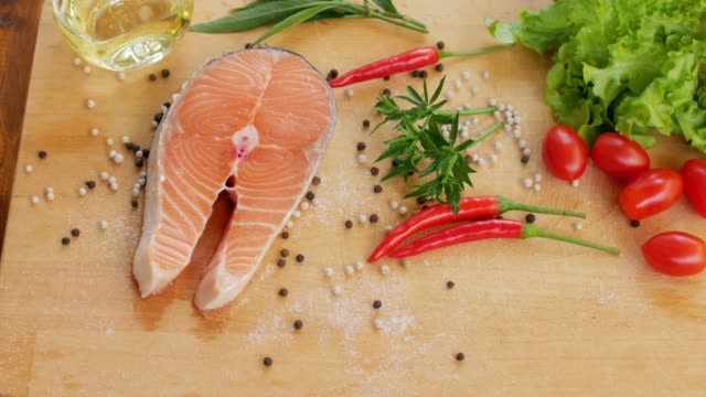 Healthy food Fresh Salmon Red Fish for Steak