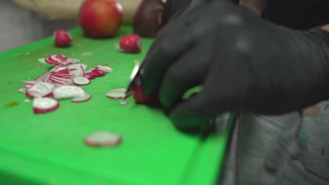 healthy food restaurant kitchen work - hygiene stock videos & royalty-free footage