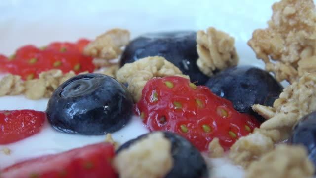 Healthy Greek Yogurt with Granola, Berries, and Honey