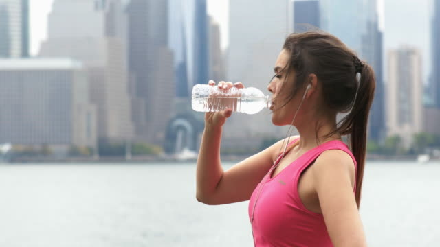 Healthy Lifestyle Young Woman Running in New York City