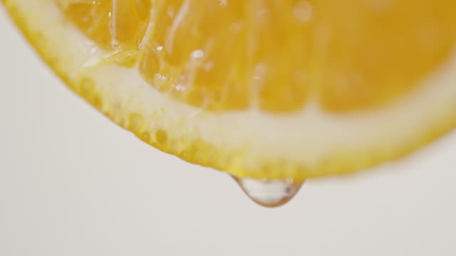 Healthy Oranges with Water Drops