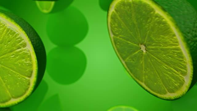 健康的なオーガニックレモンの回転とルミナンスマットアルファチャンネルでの遷移 - シームレスループ - ストックビデオ - ライム点の映像素材/bロール