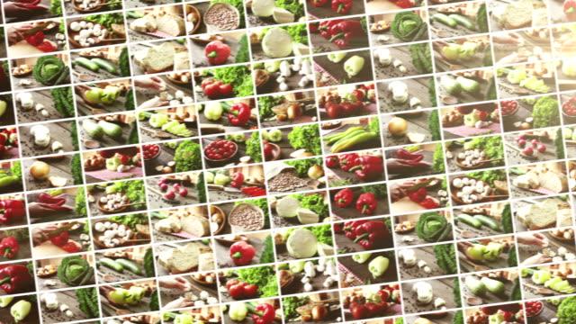 healthy organic vegetable - wood grain stock videos & royalty-free footage
