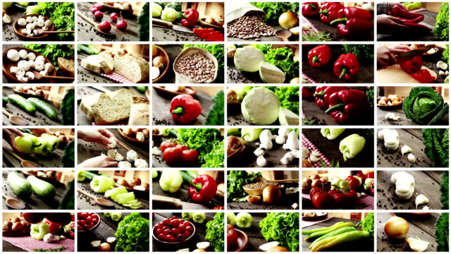 healthy organic vegetable - vegan food stock videos & royalty-free footage